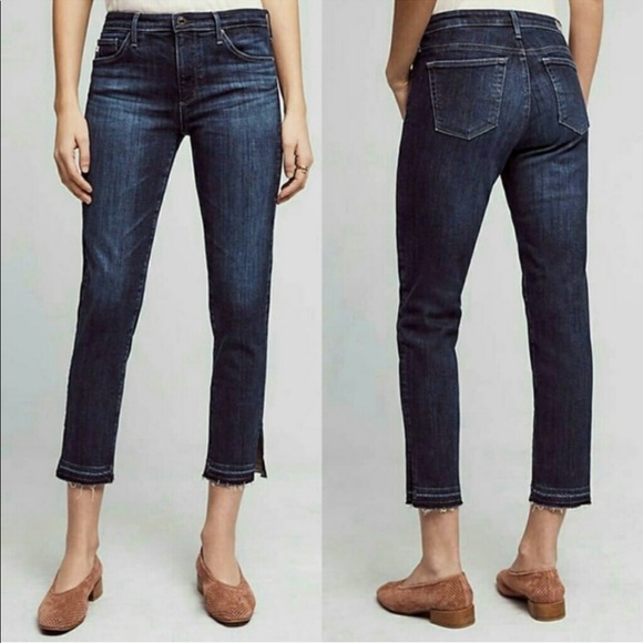 Ag Adriano Goldschmied Denim - AG Mid Rise Stevie Skinny Cropped Jeans Size 26